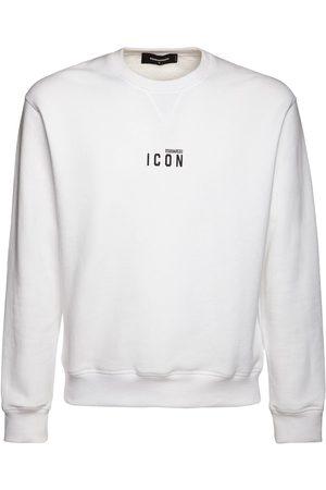 """Dsquared2 Sweat-shirt En Jersey De Coton Imprimé Logo """"icon"""""""