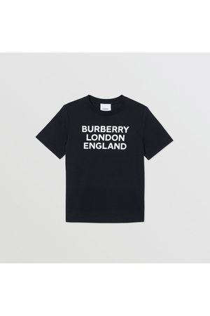 Burberry T-shirts - T-shirt en coton avec logo, Size: 10Y, Black
