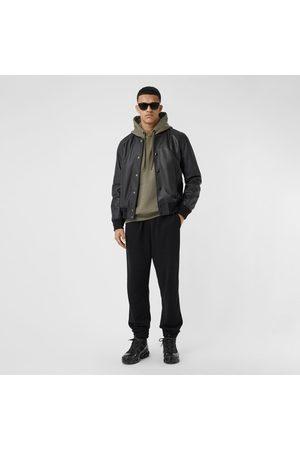 Burberry Homme Vestes en cuir - Bomber en cuir d'agneau avec logo, Size: 44