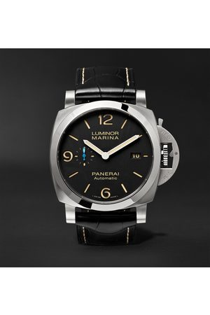PANERAI Luminor Marina 1950 3 Days Acciaio Automatic 44mm Stainless Steel and Alligator Watch, Ref. No. PAM01312