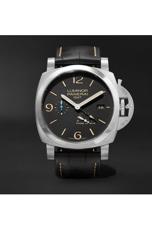 PANERAI Homme Montres - Luminor 1950 3 Days Acciaio Automatic 44mm Stainless Steel and Alligator Watch, Ref. No. PAM01321