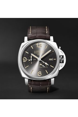 PANERAI Homme Montres - Luminor Due GMT Automatic 45mm Stainless Steel and Alligator Watch, Ref. No. PAM00944