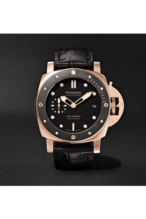 PANERAI Submersible Automatic 42mm Goldtech and Alligator Watch, Ref. No. PAM00974