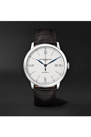 Baume & Mercier Homme Montres - Classima Automatic 40mm Stainless Steel and Alligator Watch, Ref. No. M0A10214