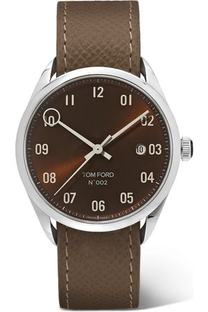 Tom Ford Homme Montres - 002 40mm Stainless Steel and Pebble-Grain Leather Watch