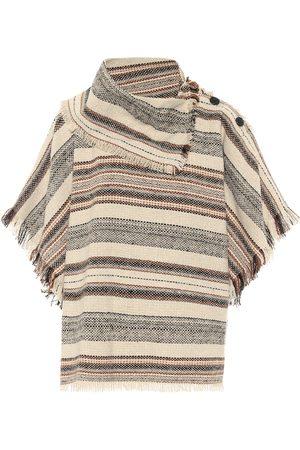 Isabel Marant, Étoile Poncho Jacoya rayé en tweed de laine mélangée