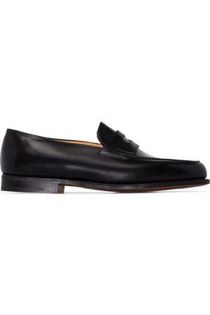 JOHN LOBB Black Lopez leather loafers