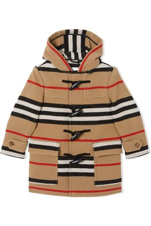 Burberry Duffle coat à rayures Icon