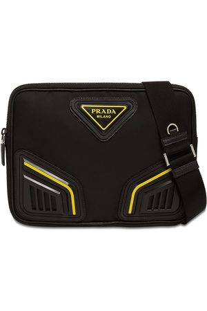 Prada Logo Patch Nylon Crossbody Bag