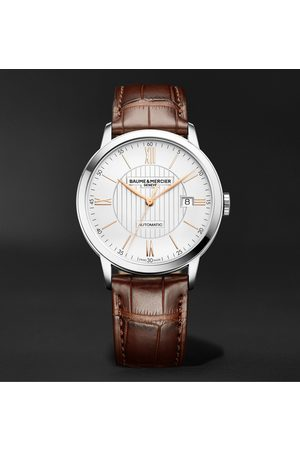 Baume & Mercier Homme Montres - Classima Automatic 40mm Stainless Steel and Alligator Watch, Ref. No. M0A10263