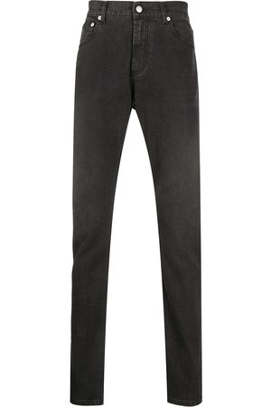 Alexander McQueen Logo-patch slim-fit jeans