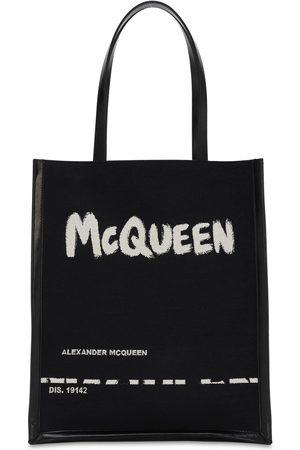 Alexander McQueen Tote Bag En Toile Jacquard Et Cuir