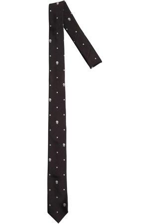 Alexander McQueen Cravate En Soie Avec Crânes Et Étoiles Brodés 5 Cm