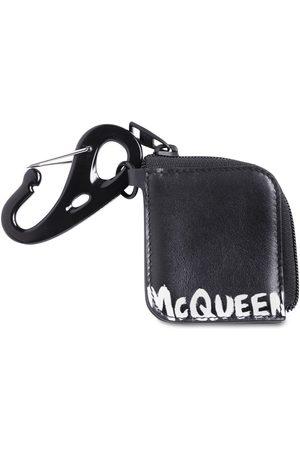 Alexander McQueen Pochette Zippé En Cuir Imprimé Logo