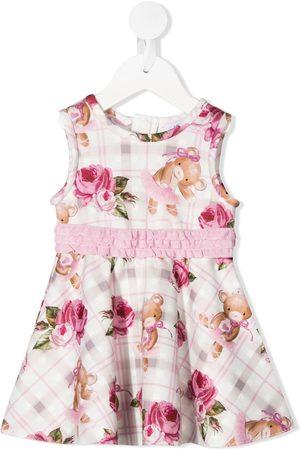 MONNALISA Teddy bear print ruffle detail dress