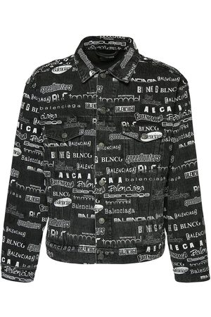 Balenciaga Veste En Denim De Coton Imprimé