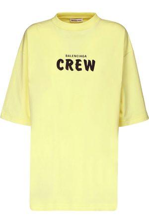 Balenciaga T-shirt En Jersey De Coton Imprimé Crew