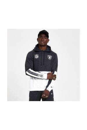 New Era Homme Sweatshirts - Sweat à capuche NFL Oakland Raiders Color Block Hoody pour homme