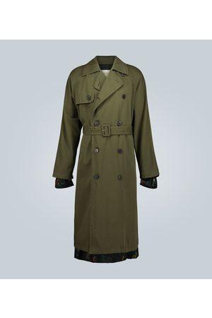 DRIES VAN NOTEN Trench-coat croisé en coton