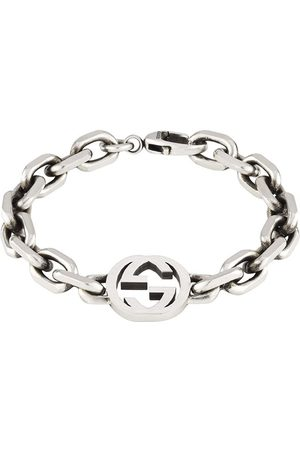 Gucci Homme Bracelets - Bracelet en à logo GG entrelacé