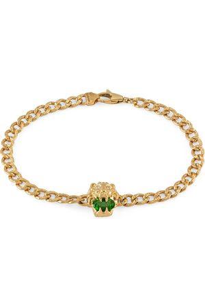 Gucci Bracelet tête de lion 18 carats avec diopside chromée