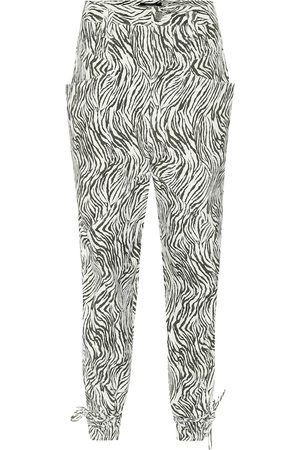 Isabel Marant Pantalon paper bag Badeloisa en cuir à motif zébré