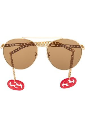 Gucci GG round frame charms sunglasses