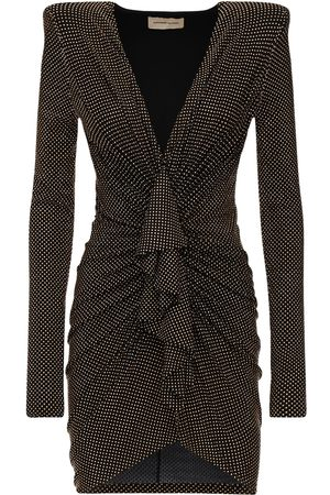 ALEXANDRE VAUTHIER Mini-robe En Jersey Clouté Drapé