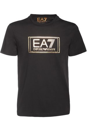 EA7 T-shirt En Jersey De Coton Avec Logo