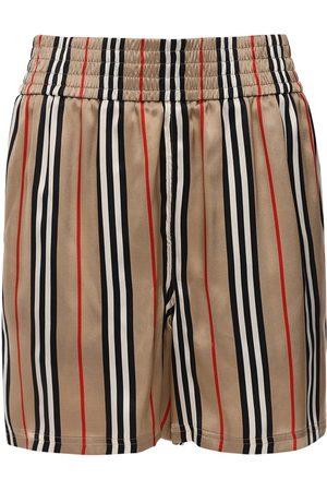 Burberry Femme Shorts - Short En Twill De Soie Imprimé Carreaux