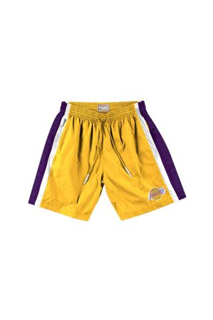 Mitchell & Ness Homme Shorts - Short NBA Los Angeles Lakers Packable Nylon pour Homme