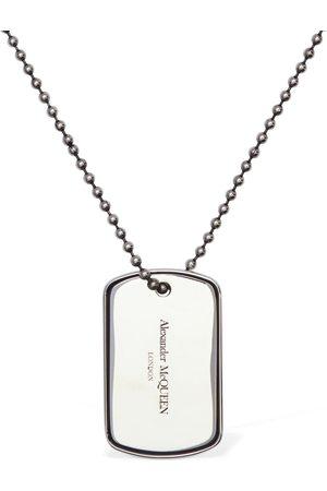 Alexander McQueen Long Collier Avec Plaque D'identité