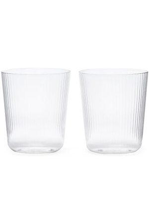 R+D.LAB Ensemble de deux verres rainurés Luisa