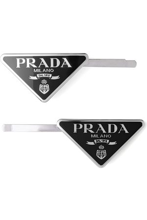 Prada Lot de 2 barrettes à plaque logo