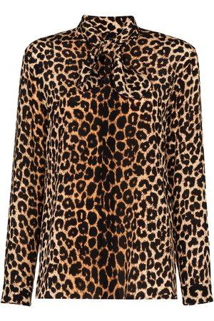 Saint Laurent Femme Chemisiers - Blouse à imprimé léopard
