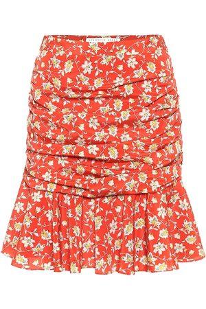 VERONICA BEARD Mini-jupe Taras en soie mélangée à fleurs