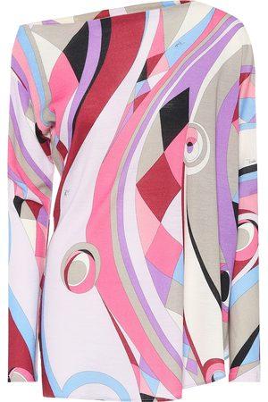 Emilio Pucci Top asymétrique imprimé en laine mélangée