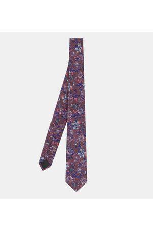 Galeries Lafayette Cravate Flower coton