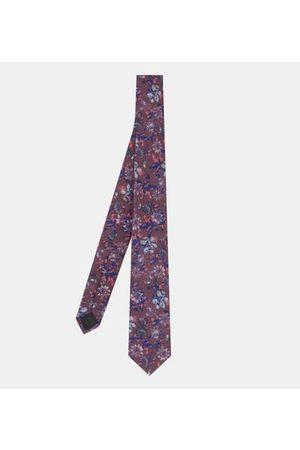 Galeries Lafayette Homme Cravates - Cravate Flower coton
