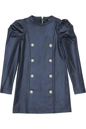 Balmain Robe De Soirée En Jersey De Coton Enduit