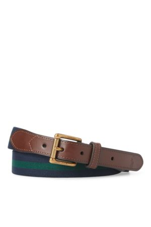 Polo Ralph Lauren Ceinture stretch bordée de cuir
