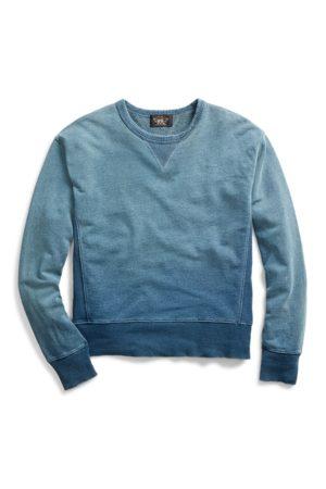 RRL Sweat en coton éponge indigo