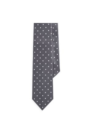 Ralph Lauren Cravate en satin de soie à pois