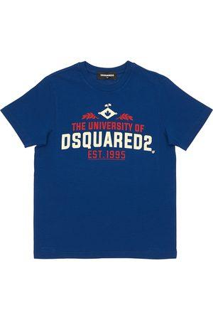 """Dsquared2 T-shirt En Jersey De Coton Imprimé """"university"""""""