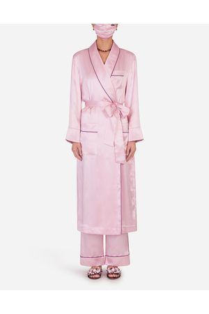 Dolce & Gabbana Collection - SILK ROBE WITH MATCHING FACE MASK