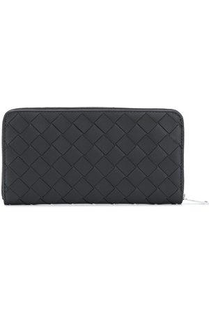 Bottega Veneta Intrecciato weave zip-around wallet