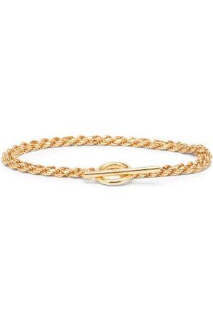 ALL BLUES Homme Bracelets - Bracelet en vermeil à double chaîne Rope