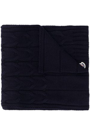 Moncler Logo-patch cable knit scarf