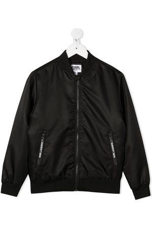 Karl Lagerfeld Logo bomber jacket