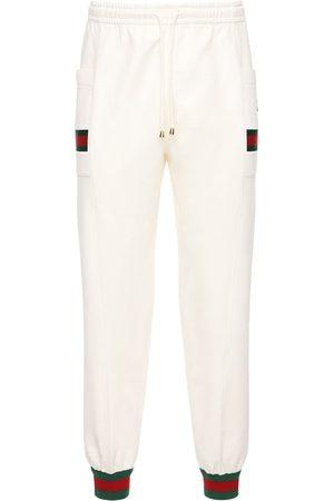 Gucci Pantalon En Coton Avec Patch Gg